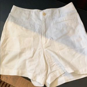 Made in France. Linen snd cotton white shorts